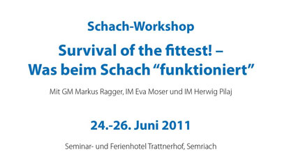 Schachseminar: Survival of the fittest! -  Was beim Schach funktioniert!